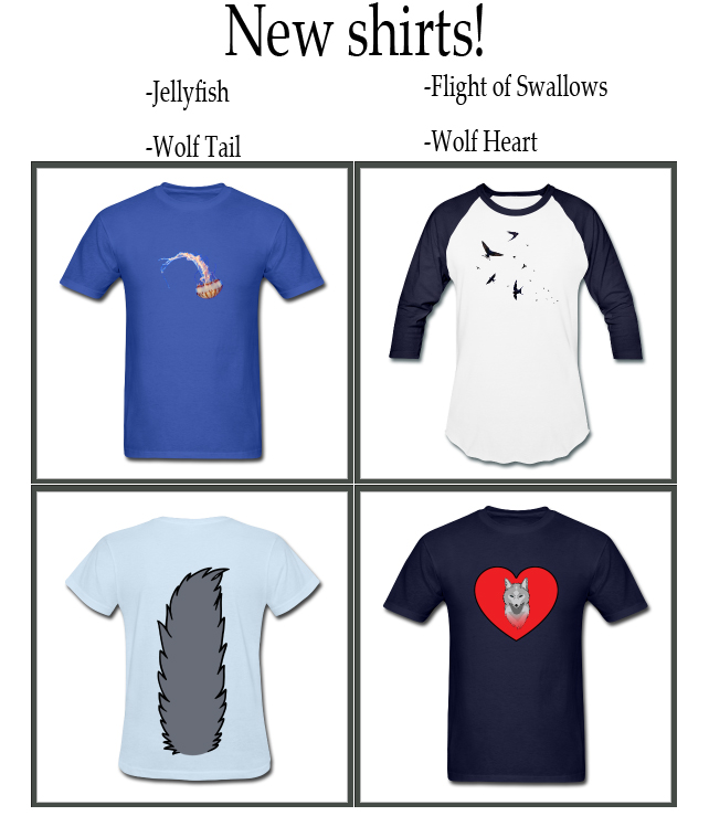 New shirts! 12/2/12 by SPPlushies