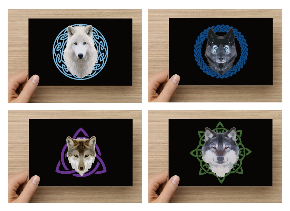 Wolves with Celtic Knots - Art Prints by SPPlushies