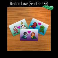 Parrots in Love 4X6 prints set