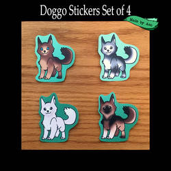 Doggo Stickers! by SPPlushies