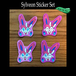 Sylveon Stickers by SPPlushies