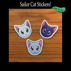 Sailor Cat Stickers by SPPlushies