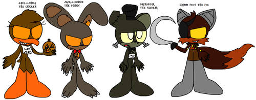 Halloween Version of Freddy and his friends