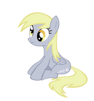 Derpy Sitting Vector by Kyute-Kitsune