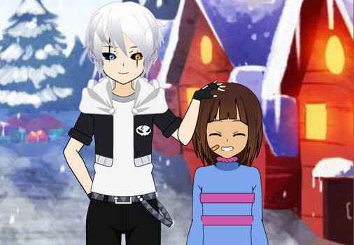 Mickael and Frisk
