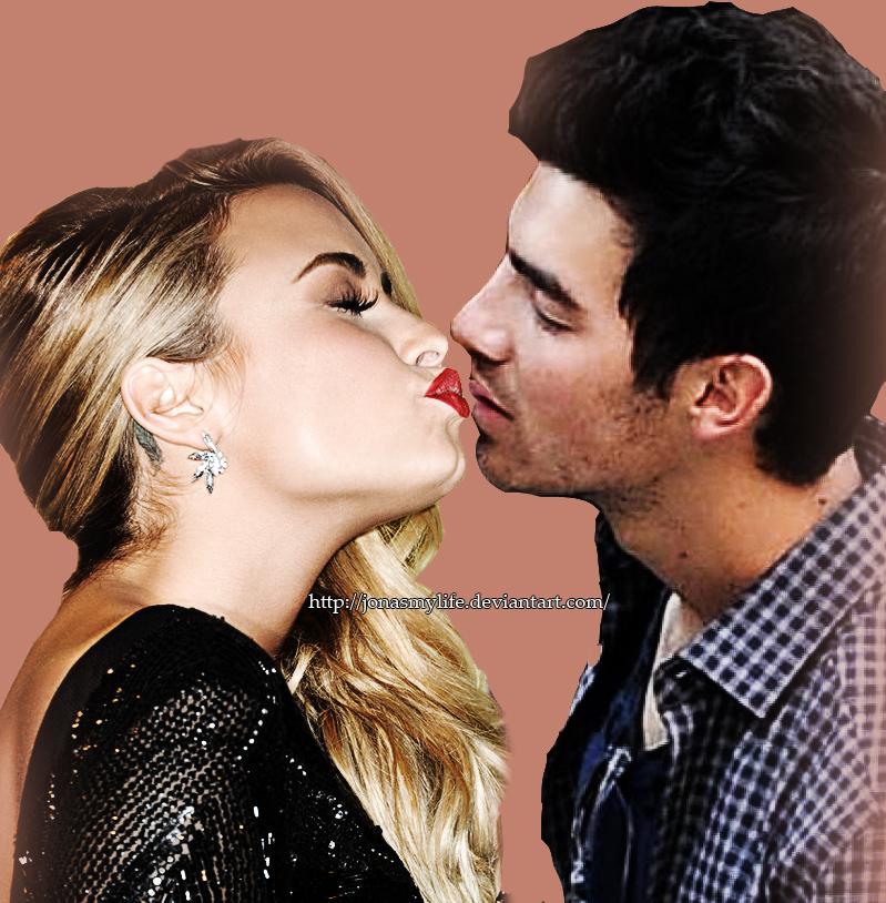 Jemi Kiss Joe Jonas And Demi Lovato By JonasMyLife On