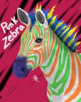 Punk Zebra by mydragonzeatyou