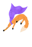 Super Galactic Fox Painting