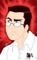 AVGN's Ultra-Angry face - Disney Style by samusmmx
