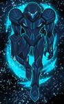 Dark Samus floating