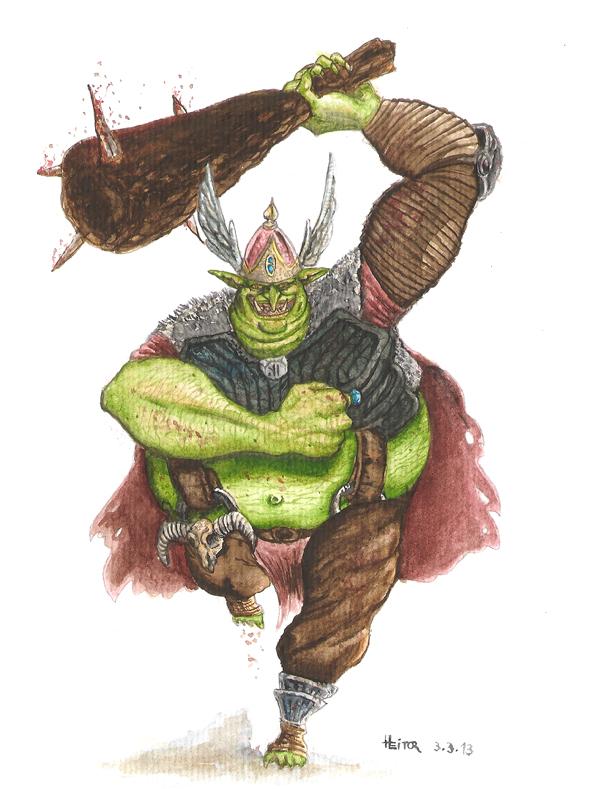 Splig, the fat goblin by Zacramandy
