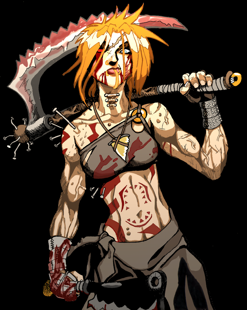 axe girl final by dirtcheapninja