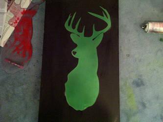 deer stencil by satanizmo666