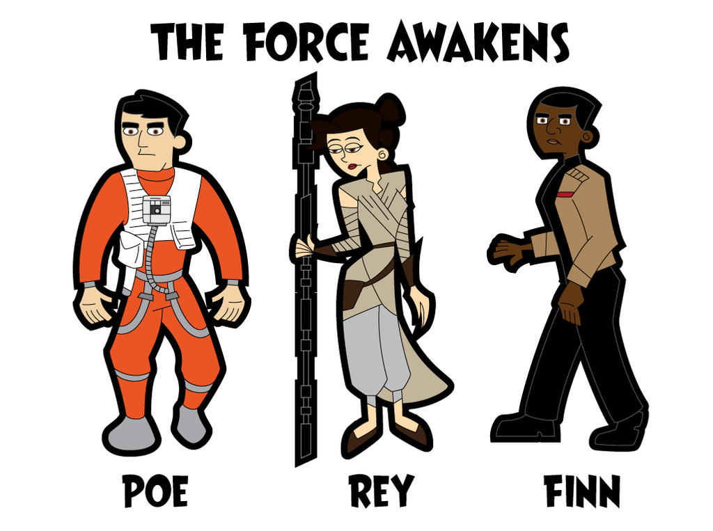 Star Wars The Force Awakens Retro Cartoon by JK-Antwon