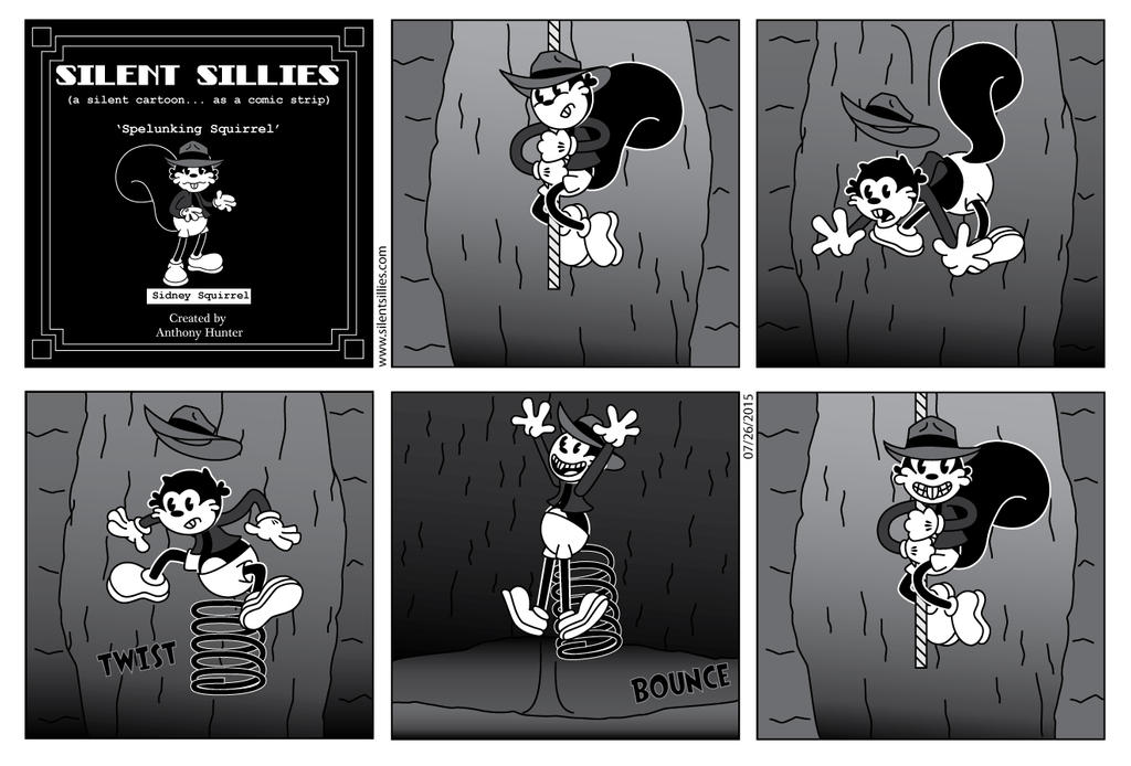 Silent Sillies 147 - Spelunking Squirrel by JK-Antwon