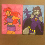 Teen Titans sketch cards