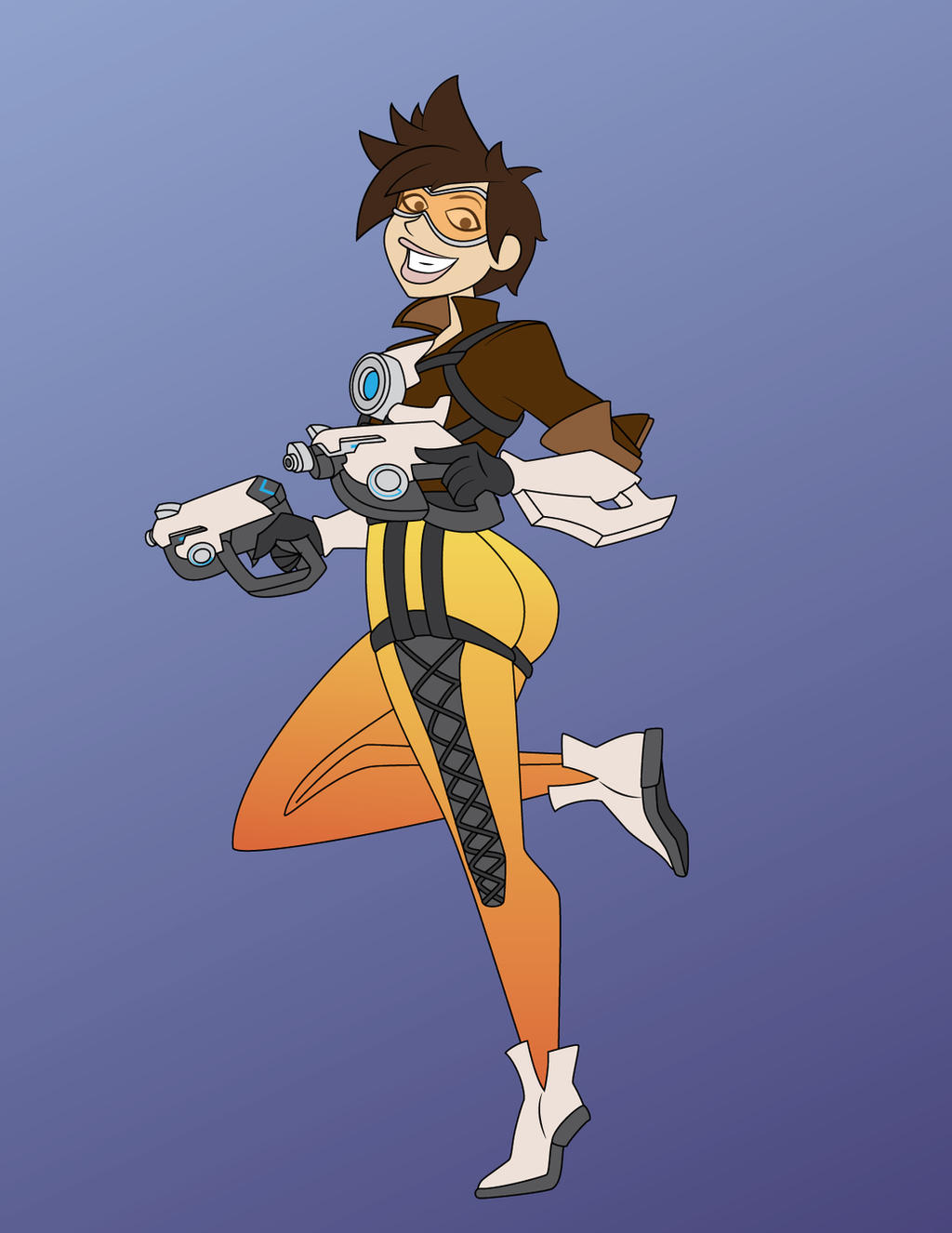 Overwatch Animated - Tracer by JK-Antwon