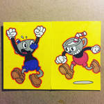 Cuphead sketch cards