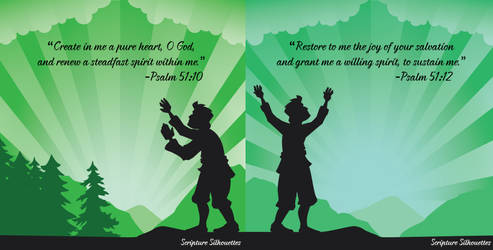 Scripture Silhouettes - Psalm-  51.10 and 12