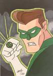 Green Lantern TAS sketch card