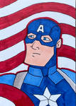 Happy Captain America day! Sketch Card
