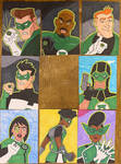 Green Lantern sketch cards