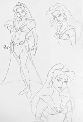 Space Princess sketch