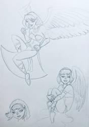 Sphinx girl sketch