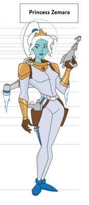 Zemara in space suit