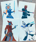 Clone Wars sketches by JK-Antwon