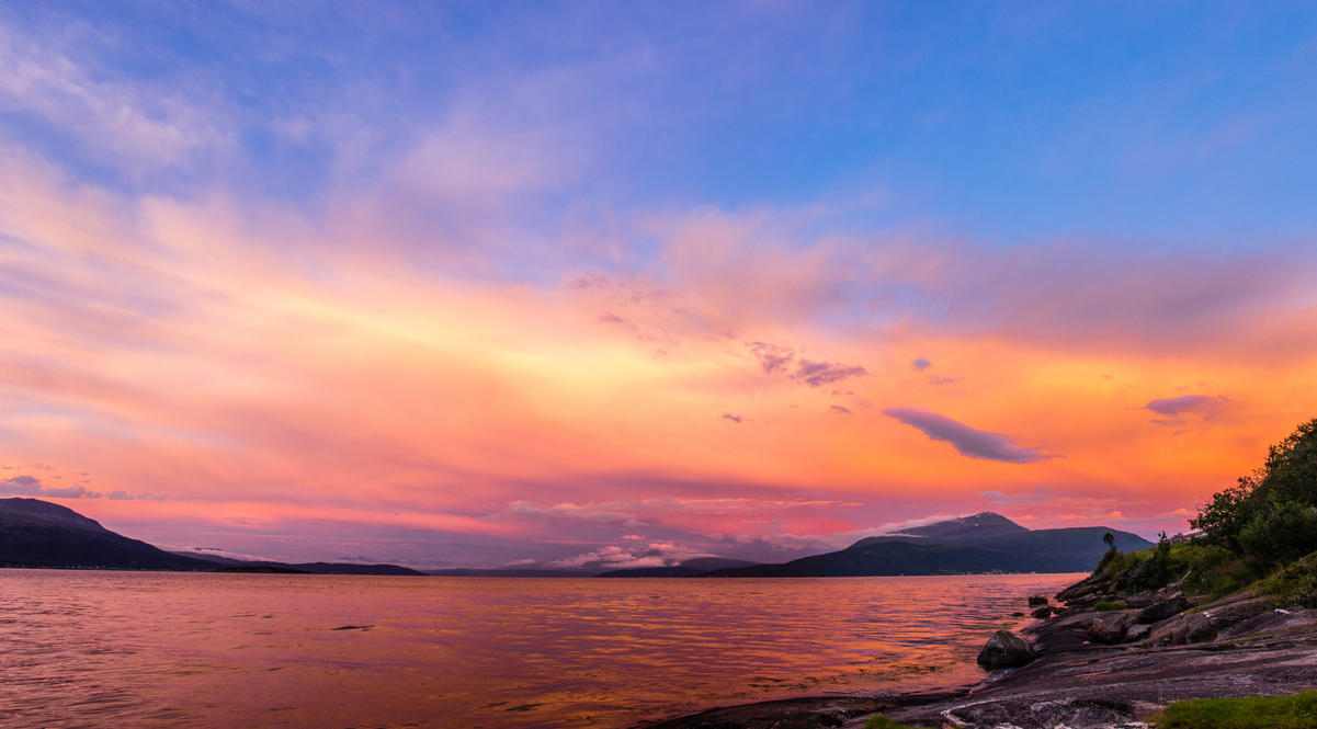 Sunset in northern Norway. by misa2525