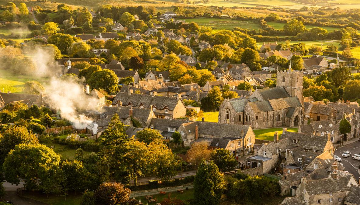 Corfe Village. by misa2525