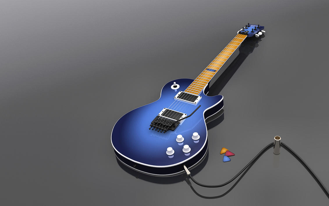 Blue Les Paul HD by cheyrek