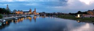 Dresden Panorama at Night