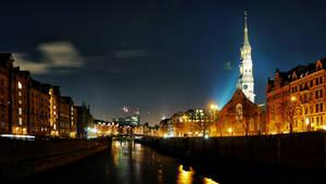 Hamburg Night Wallpaper