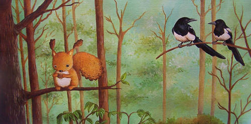Vincent and Gossiping Magpies by IreneShpak