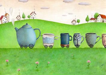 Tea Train by IreneShpak