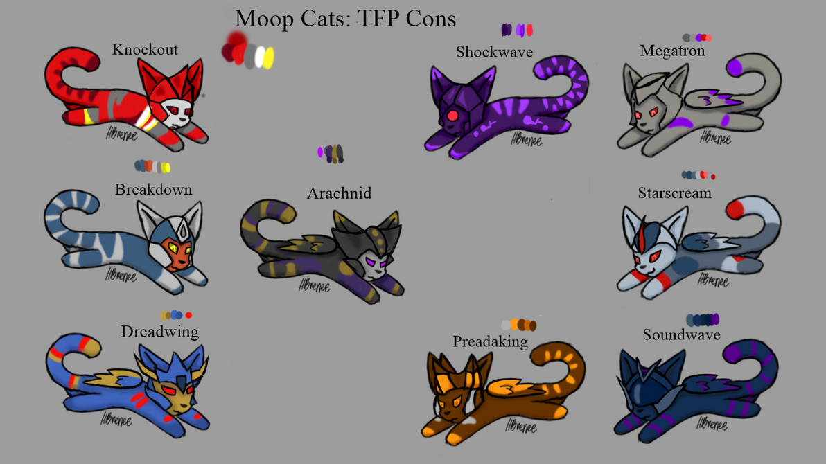 Moop Cats: TFP Decepticons by Hbrenee on DeviantArt