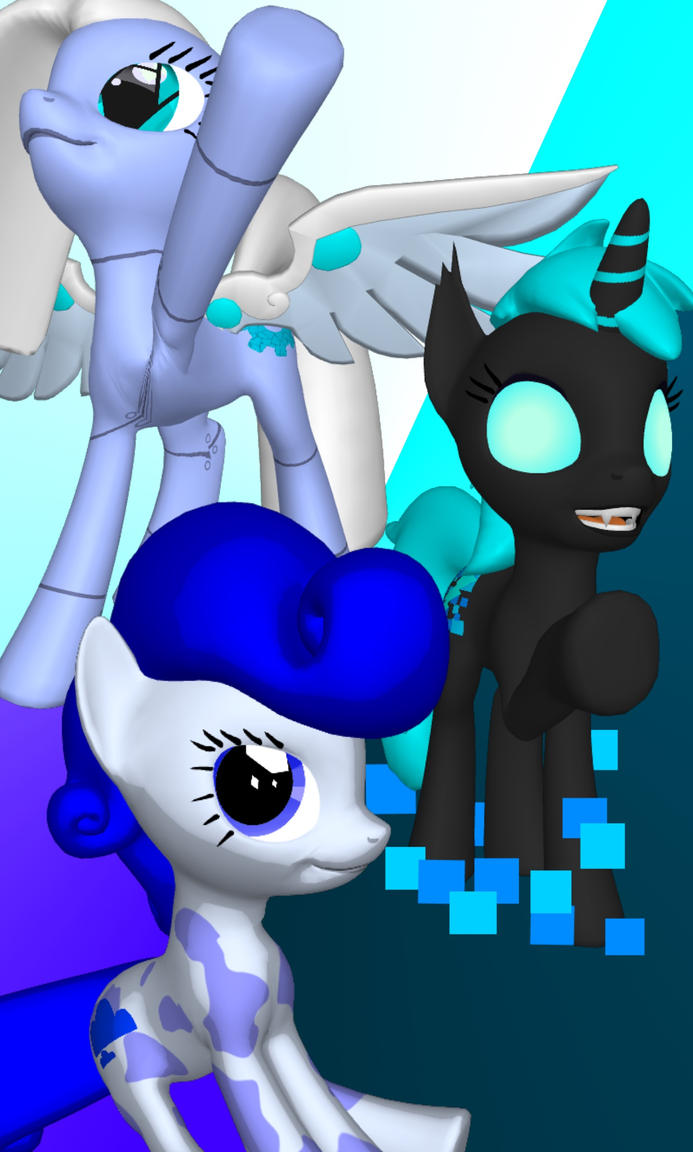 OC Ponies #6 (wallpaper LG G5) by KittyCutieMeow