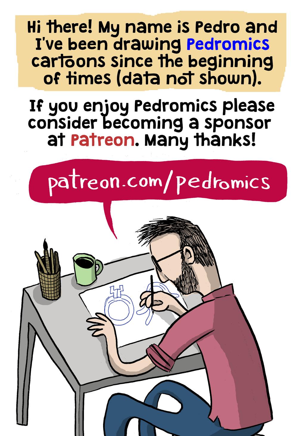 Sponsor Pedromics in Patreon by Velica