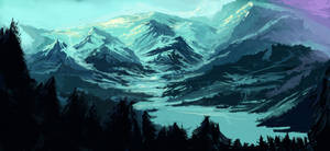 Winter over a Vast Land