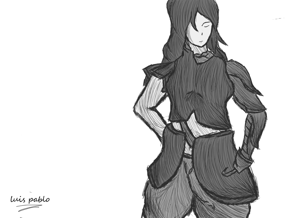 warrior/guerrera by luispablo