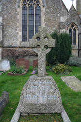 Old Goth Grave with Cross