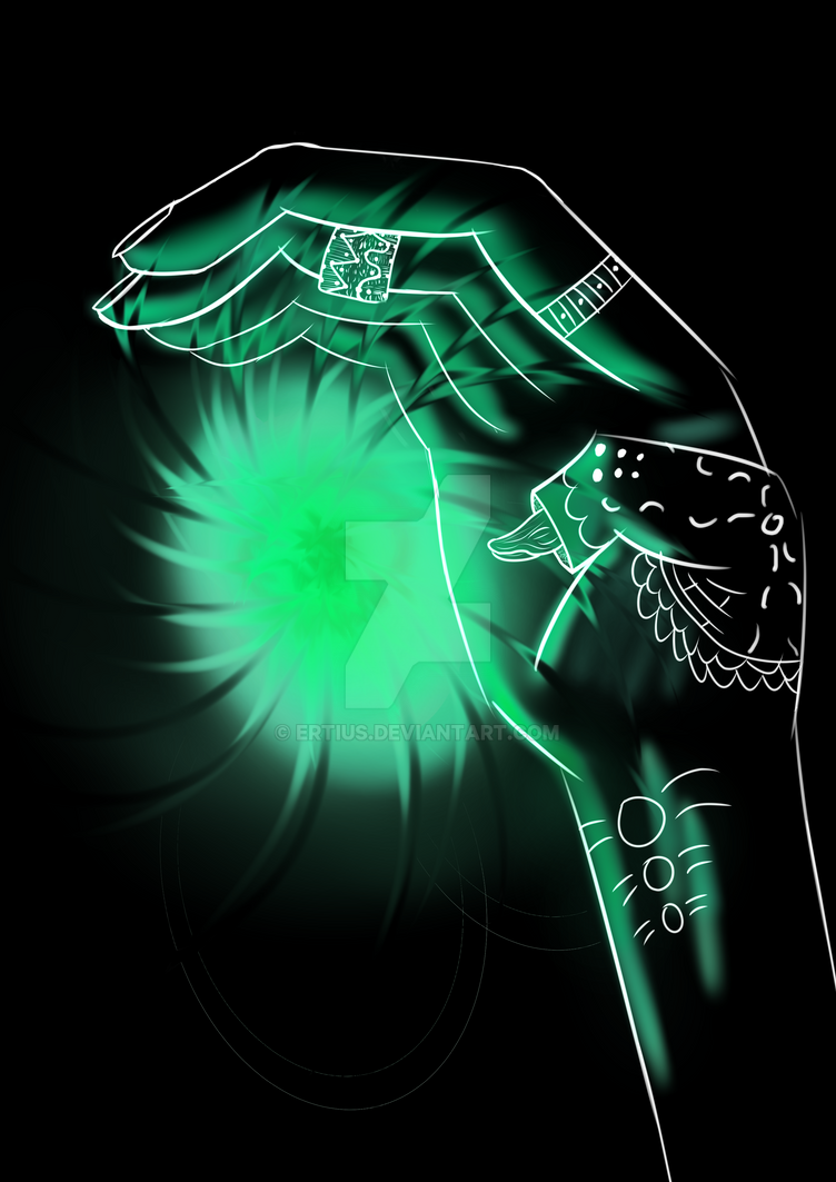 Spirit hand by Ertius