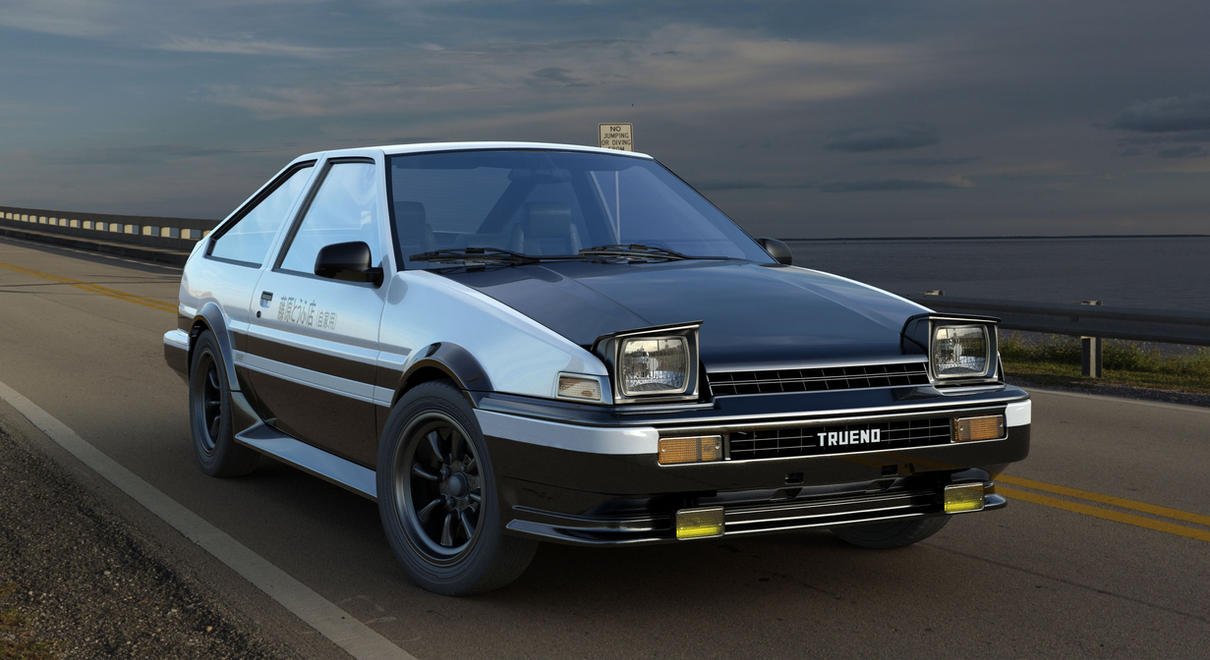 toyota sprinter trueno ae86 initial d edition by mixjoe on deviantart. Black Bedroom Furniture Sets. Home Design Ideas