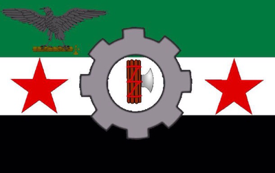 Flag Of Fascist Syria By Ghostraptor On DeviantArt - Syria flag