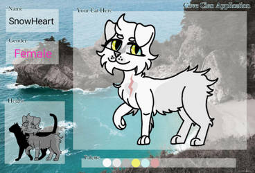 SnowHeart (Cove Clan Application) by SimperSoul