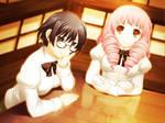 Shizune and Misha (Android 640x480 wallpaper)
