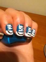 Sneaker Nail Art :D by xXxBheithirxXx