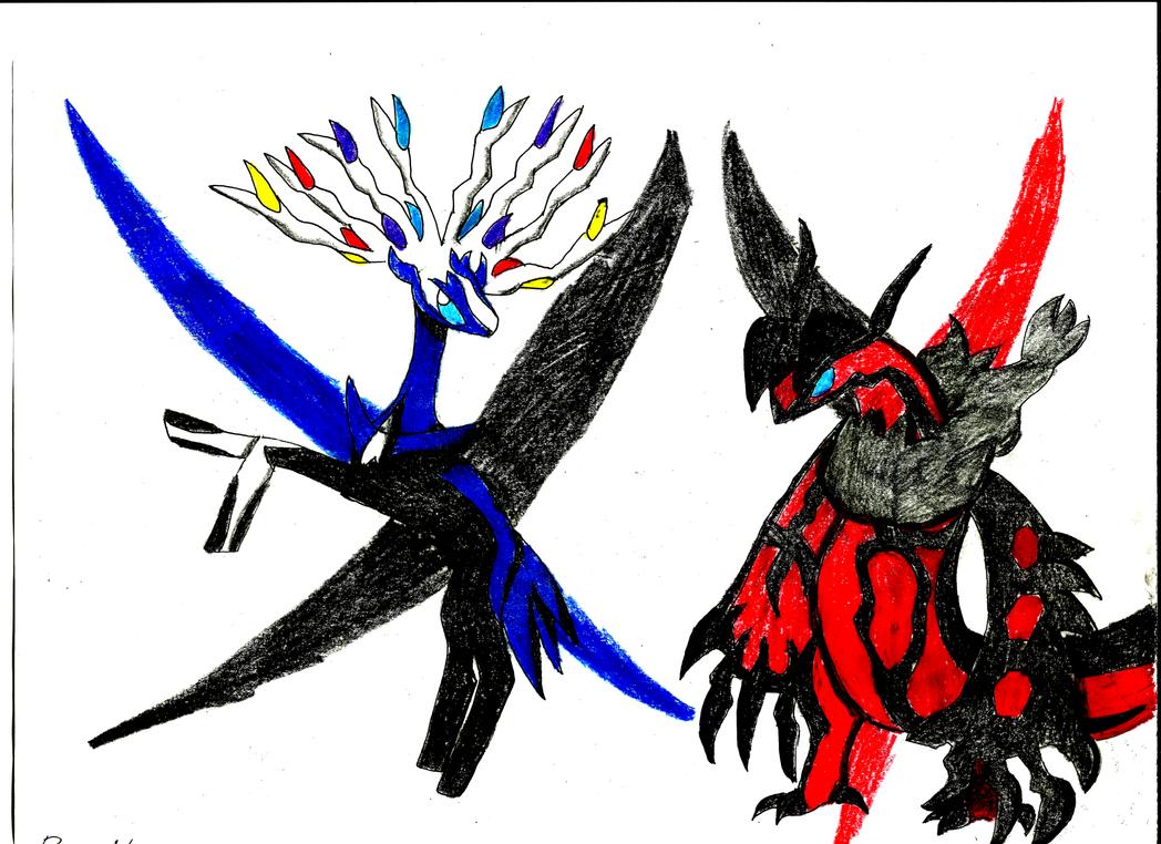 Xerneas and Yveltal by PokemonNinja647 on DeviantArt